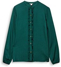 ESPRIT 107ee1f024, Camicia Donna, Multicolore (Bottle Green 385), 42