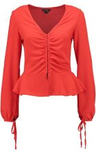 Miss Selfridge BLOUSON SLEEVE TEA TOP Camicetta red