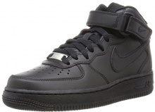 Nike Air Force 1 07 Mid - Sneaker a Collo Alto Donna, Nero (Black/Black 001), 41 EU