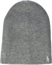 Polo Ralph Lauren Pony-HAT-Wool, Berretto in Maglia Donna, Grau (Fawn Grey/Silver 2Yel), Taglia unica