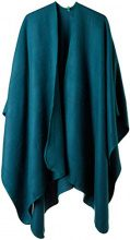 United Colors of Benetton Shawl, Poncho Donna, Verde (Drak Green 88y), Taglia unica