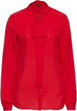 Blusa con collo a sciarpina (Rosso) - BODYFLIRT