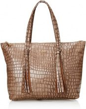 Gaudì Shopping Linea Alicia, Borsa a Mano Donna, Marrone (Brown), 35x30x14 cm (W x H x L)