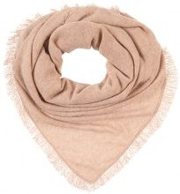 Repeat TRIANGLE FRINGE Foulard camel