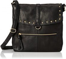 PIECES Pcnadeen Leather Large Cross Body - Borse a tracolla Donna, Schwarz (Black), 3x26x26 cm (B x H T)