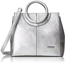 Bulaggi Bazmar Handbag - Borse a secchiello Donna, Silber, 13x25x30 cm (B x H T)