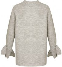 Coster Copenhagen Knit Sweater W. Tie Band Cuff, Maglione Donna, Grey (Light Concrete Melange), 44