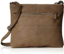 s.Oliver (Bags) 39.712.94.4502 - Borse a spalla Donna, Marrone (Cocoa), 6x30x35.5 cm (B x H T)