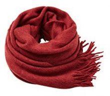 ESPRIT Accessoires 127ea2q004, Sciarpa Uomo, Rosso (Red 630), Taglia unica