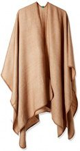 United Colors of Benetton Shawl, Poncho Donna, Marrone (Light Brown 7b5), Taglia unica