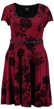 City Chic ORIENTAL FLOCK Vestito di maglina ruby