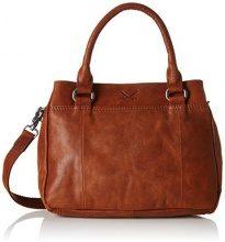 Sansibar Zip Bag - Borse a secchiello Donna, Braun (Cognac), 9x23x29 cm (B x H T)
