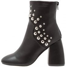 Lost Ink DYAN STUDDED BUBBLE BOOT Stivaletti con tacco black