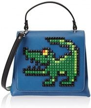Tua by Braccialini Pixel, Borsa a Mano Donna, Blu (Azzurro), 11 x 19 x 23.5 cm (W x H x L)