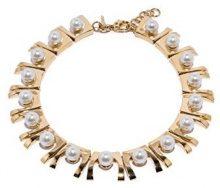 Lele Sadoughi Donna    placcato oro Rotonda  Finta perla bianco Perla FASHIONNECKLACEBRACELETANKLET