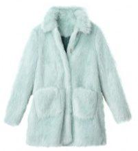 Cappotto in pelliccia sintetica colorata