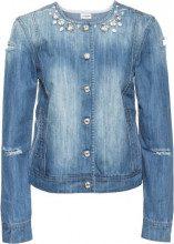 Giacca di jeans con pietre (Blu) - BODYFLIRT