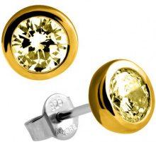 Diamonfire–Orecchini da donna in argento Sterling 925, con zirconi Fancy Colours linea giallo 62/1539/1/085