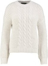Dorothy Perkins CABLE BOBBLE JUMPER Maglione offwhite