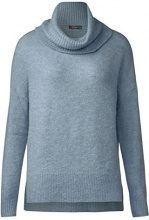 Street One Cosy Roll Collar Pullover, Maglione Donna, Blau (Ice Blue Melange 11115), 44