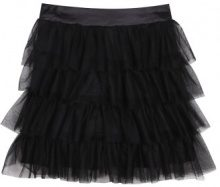 Gonna in tulle con fascia in raso