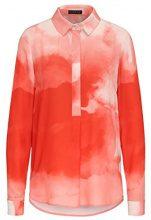 APART Fashion Powder, Camicia Donna, Mehrfarbig (Orange-Multicolor Orange-Multicolor), 42