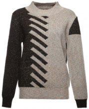 Pullover a maglia con ampie fascette a coste