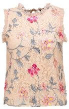 New Look EMBROIDERY FRILL SLEEVE Camicetta nude