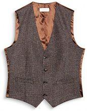 ESPRIT Collection 107eo2h001, Gilet da Interno Uomo, Marrone (Brown 210), Large (Taglia Produttore: 50)