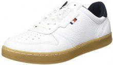 Tommy Hilfiger H2285OXTON 1A1, Scarpe da Ginnastica Basse Uomo, Bianco (White 100), 43 EU