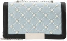 Missguided PEARL QUILTED DENIM CROSS BODY BAG Borsa a tracolla blue