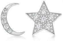 Tuscany Silver Orecchini a perno Donna argento Argento sterling 925 zirconia_cubica rotonda - 8.59.0609