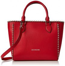 Love Moschino Borsa Vitello Pebble Rosso - Borse a spalla Donna, (Red), 9x25x36 cm (B x H T)