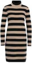 J.CREW SEABIRD STRIPED TURTLENECK DRESS Abito in maglia black/saddle