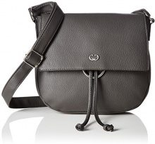Gerry Weber Flash Over Shoulderbag Mhf - Borse a tracolla Donna, Grau (Dark Grey), 4x22x25 cm (B x H T)