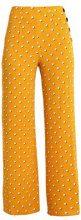 Miss Selfridge OCHRE SPOT WIDE LEG TROUSER Pantaloni mustard