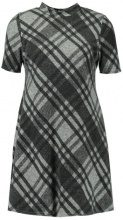 New Look BRUSHED CHECK SWING Abito in maglia black pattern