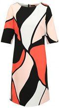 APART Fashion Powder, Vestito Donna, Mehrfarbig (Orange-Multicolor), 36