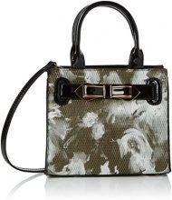 Swanky Swans Mila Floral Mini Handbag - Borse a tracolla Donna, Black, 8x28x20 cm (W x H L)