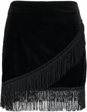 Fashion Union Petite BIRCH FRINGE  Minigonna black