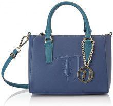 Trussardi Jeans Ischia Mini, Borsa a Tracolla Donna, Blu (Blue/Green), 25x20x15 cm (W x H x L)
