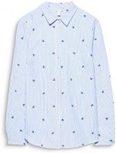ESPRIT 018ee1f008, Camicia Donna, Multicolore (Light Blue 440), 44