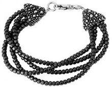 King Baby da donna, in argento Sterling 925multi fili perle ematite Stingray cono chiusura, lunghezza 19,05cm