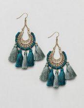 Reclaimed Vintage Inspired - Orecchini pendenti bohémien con nappe - Oro