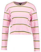 Topshop COLOUR STRIPE LONG SLEEVE CREW Maglietta a manica lunga pink