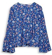 ESPRIT 018ee1f001, Camicia Donna, Multicolore (Dark Blue 405), 40