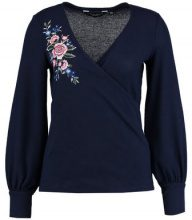 Dorothy Perkins EMBROIDERED WRAP BRUSHED Maglione navy