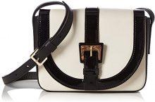 PolliniPollini Bag - Borse a Tracolla Donna , Bianco (Weiß (Avory + Black)), 15x21x6 cm (B x H x T)