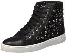 Guess Gerta2, Sneaker a Collo Alto Donna, Nero, 38 EU