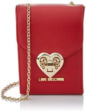 Love Moschino Borsa Nappa Pu Rosso - Borse Baguette Donna, Rot (Red), 17x12x6 cm (L x H D)
